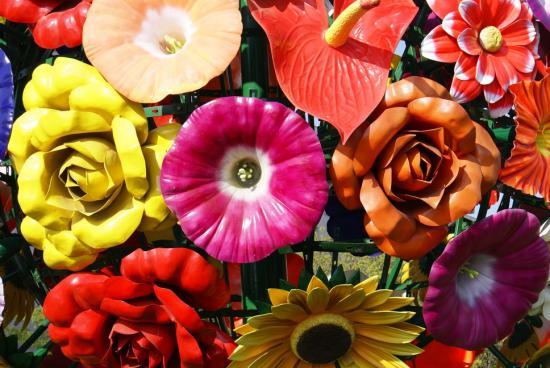 Avec des fleurs !